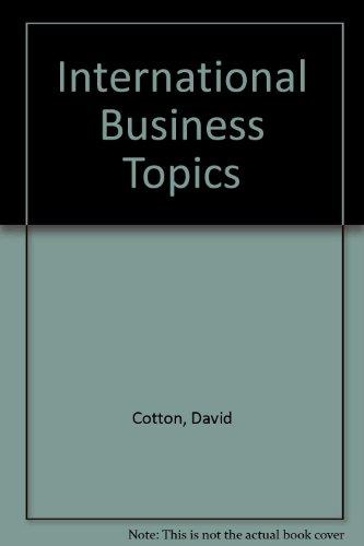 9780713523980: International Business Topics