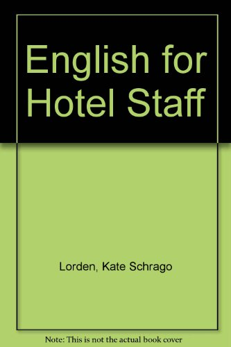9780713524314: English for Hotel Staff