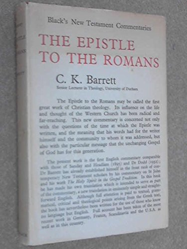 9780713600261: The Epistle to the Romans: Harper's New Testament Commentaries