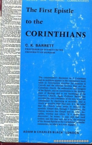 9780713600278: A Commentary on the First Epistle to the Corinthians.