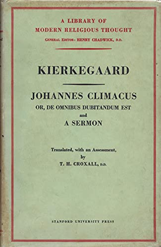 9780713602128: Johannes Climacus (Library of Modern Religious Thought)