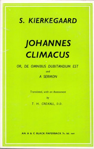 9780713602135: Johannes Climacus (Library of Modern Religious Thought)