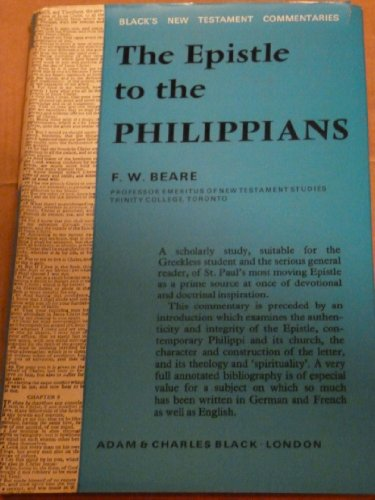 9780713609745: Epistle to the Philippians (Black's New Testament Commentaries)