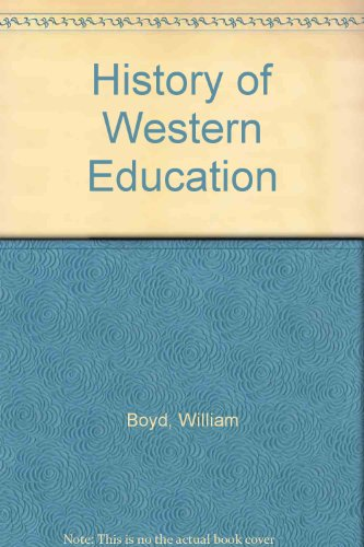 9780713610192: History of Western Education