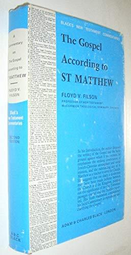 9780713612301: Gospel According to St.Matthew (Black's New Testament Commentaries)