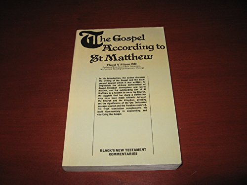 9780713612318: Gospel According to St.Matthew (Black's New Testament Commentaries)