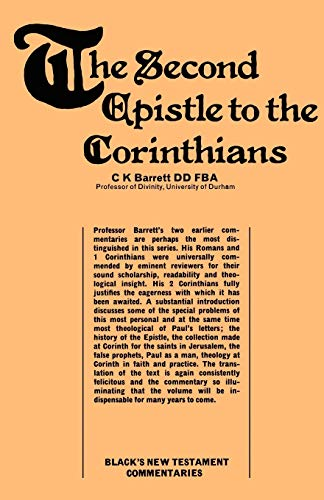 9780713614008: A Commentary on The Second Epistle to the Corinthians