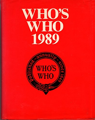 Who's Who 1989. An Annual Biographical Dictionary: Black