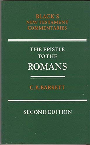9780713633382: A Commentary on the Epistle to the Romans (Black's New Testament Commentaries)