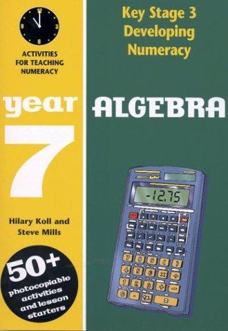 9780713664713: Algebra: Year 7 (Developing Numeracy)