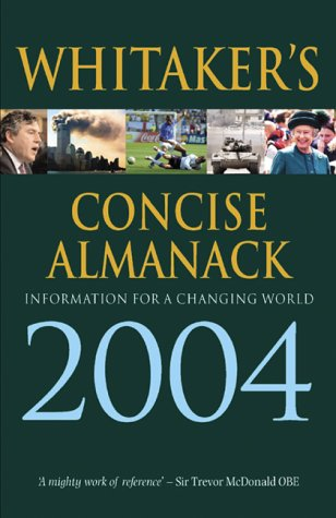 Whitaker's Concise Almanack: Today's World in One Volume