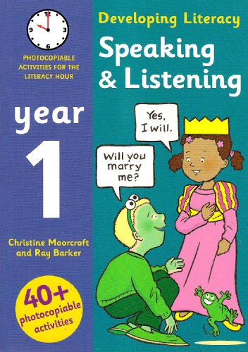 9780713673692: Speaking and Listening - Year 1: Photocopiable Activities for the Literacy Hour (Developing Literacy)