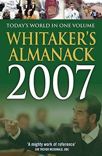 Whitakers Almanac 2007 (WHITAKER'S ALMANACK): Joseph Whitaker