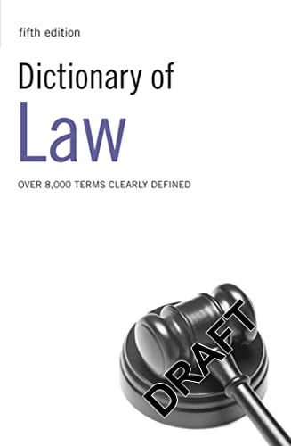 9780713683189: Dictionary of Law