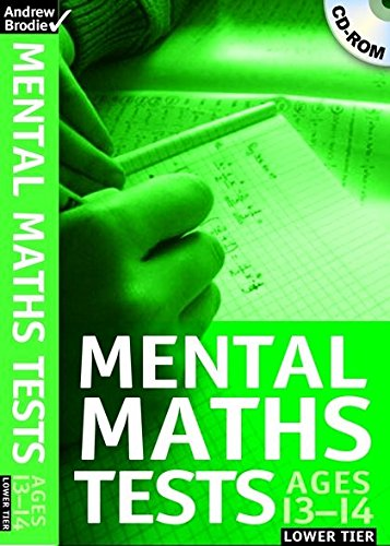 9780713684285: Mental Maths Tests: 13-14 Lower Tier