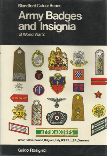 Army badges and insignia of World War 2 (Book 1)