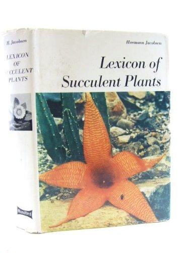 9780713708264: Lexicon of Succulent Plants