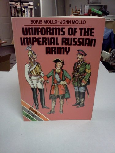9780713709209: Uniforms of the Imperial Russian Army (Colour)