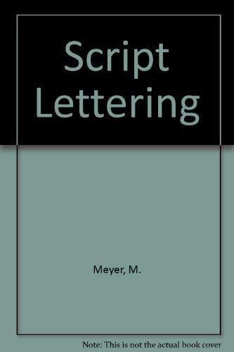 9780713714357: Script Lettering (Blandford paperbacks)