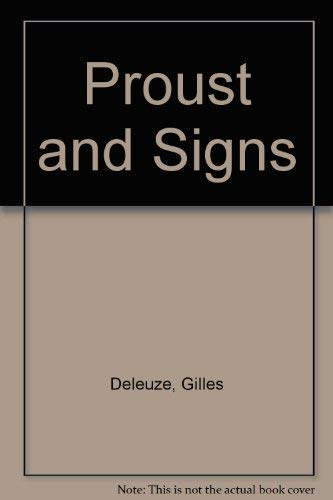 9780713903683: Proust and Signs