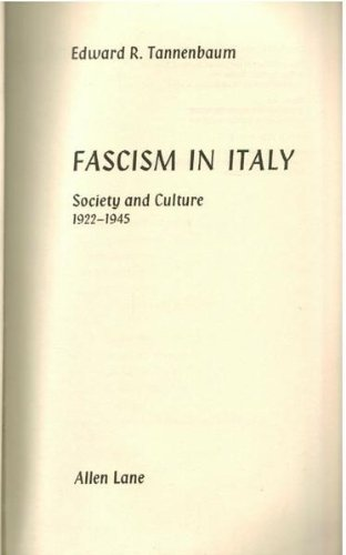 9780713904376: Fascism in Italy: Society and Culture, 1922-45