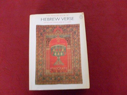 9780713911572: The Penguin Book of Hebrew Verse