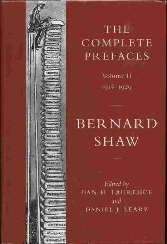 Complete Prefaces: 1914-29 v. 2 (Vol 2): Shaw, George Bernard