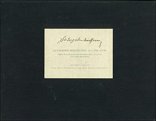 Ludwig van Beethoven: Autograph Miscellany from circa 1786 to 1799; British Museum Additional ...