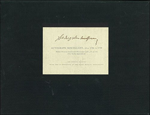 9780714104652: Ludwig van Beethoven: Autograph Miscellany from circa 1786 to 1799. British Museum Additional Manuscript 29801, ff. 39-162 (The Kafka Sketchbook, 2 Vols.)