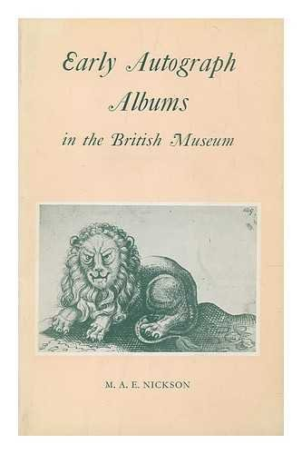 9780714104683: Early Autograph Albums in the British Museum