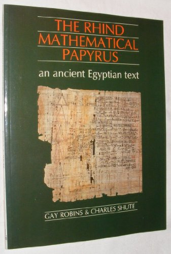 9780714109442: The Rhind Mathematical Papyrus