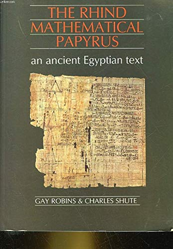 9780714109442: The Rhind Mathematical Papyrus: An Ancient Egyptian Text