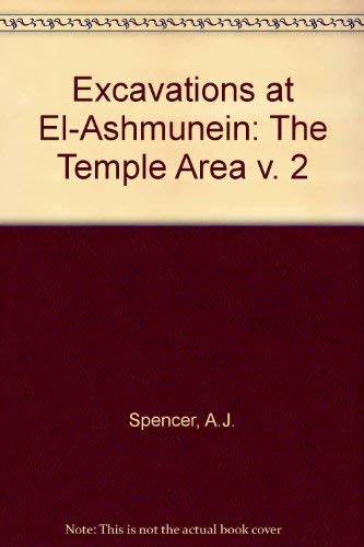 9780714109503: Excavations at El-Ashmunein: The Temple Area v. 2