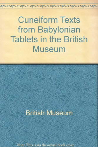 9780714110912: Cuneiform Texts from Babylonian Tablets in the British Museum: Pt. 52