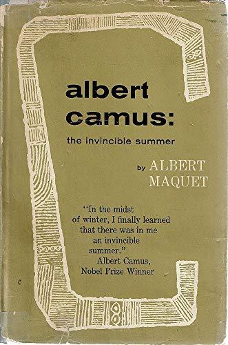 9780714500799: Albert Camus: Invincible Summer