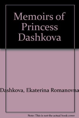 9780714503745: Memoirs of Princess Dashkova