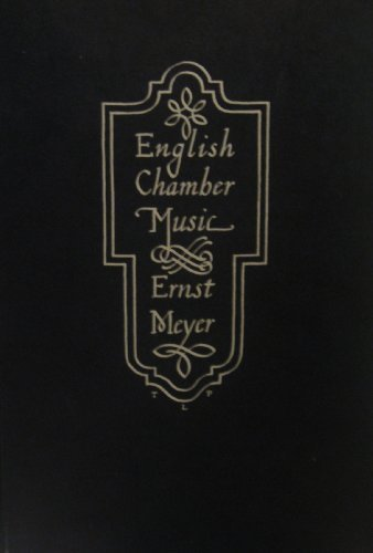 9780714527772: Early English Chamber Music: From the Middle Ages to Purcell