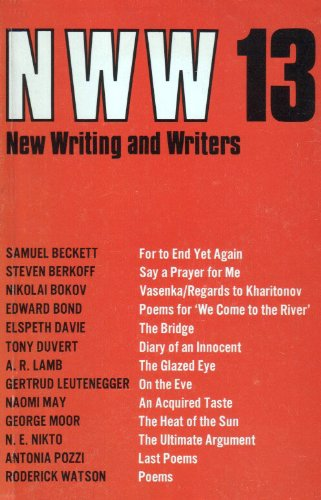9780714535418: New Writing and Writers: No. 13