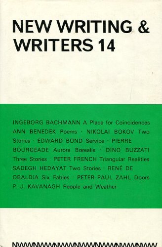 9780714535623: New Writing and Writers: No. 14