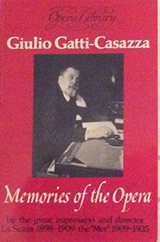 9780714536651: Memories of the Opera