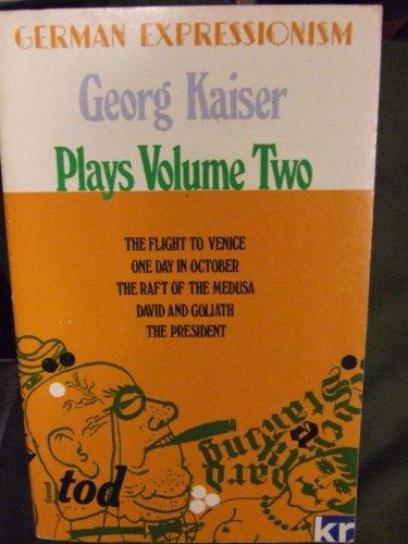 9780714538990: George Kaiser Plays (German Classics)