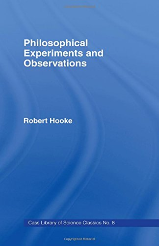 9780714611150: Philosophical Experiments and Observations (Cass Library of Science Classics)