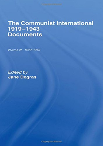 Communist International: Documents: Jane Degras
