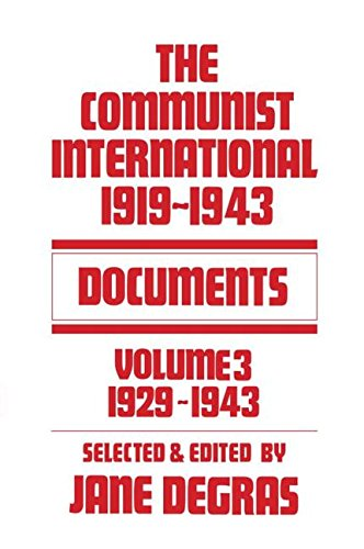 9780714615561: Communist International: Documents, 1919-1943, Vol. 3