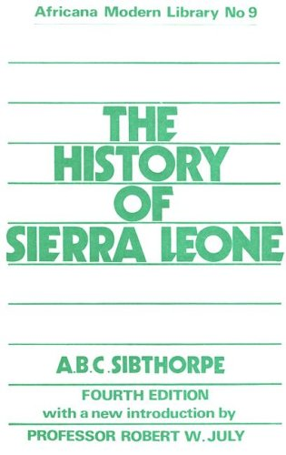 9780714617695: History of Sierra Leone Cb (Cass Library of African Studies. Africana Modern Library)