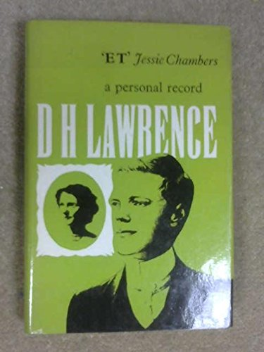 9780714620596: D H Lawrence: A Personal Record