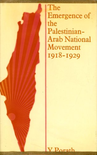 9780714629391: Emergence of the Palestin