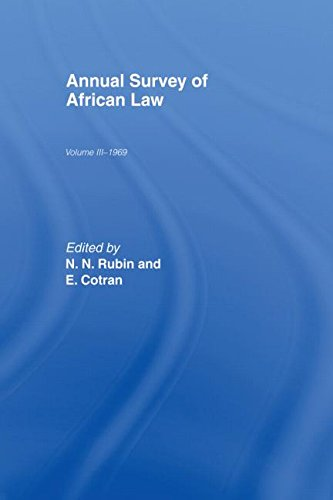 Annual Survey of African Law: Volume III (3) - 1969