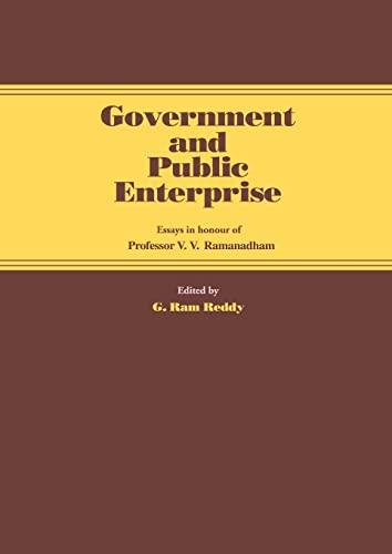 9780714632582: Government and Public Enterprise: Essays in Honour of Professor V.V. Ramanadham