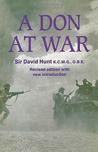 A Don at War (Studies in Intelligence): Hunt, Sir David KCMG OBE